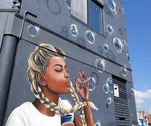 bubbles, colours, and graffiti image