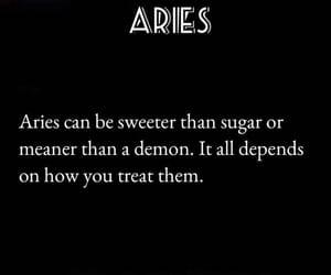 aries, demon, and horoscope image