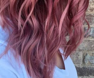 dyed, hair, and pink image