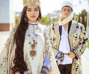 bijoux, broderie, and dress image