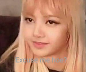 kpop, lisa, and blackpink meme image