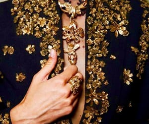 fashion, gold, and haute couture image