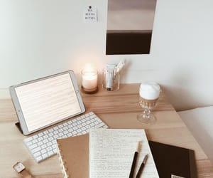 beige, study, and ipad image