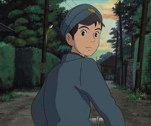 anime, ghibli, and sunrise image