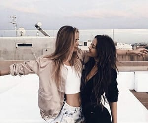 bff, blonde, and brunette image