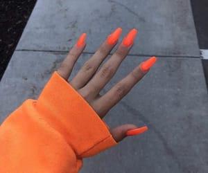 nails, orange, and neon image