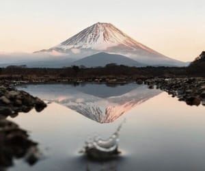 mountain, travel, and water image