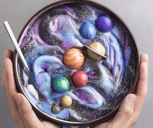 food, galaxy, and planet image