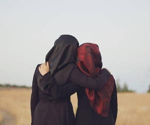 hijab, friends, and اﻷصدقاء image