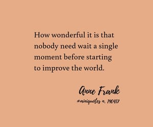 anne frank, quote, and improvement image