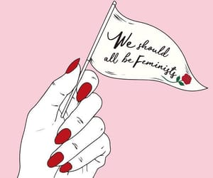feminist, pink, and art image