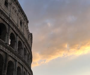 blue, cloud, and colloseum image