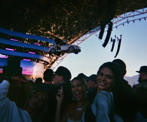 kendall jenner, hailey baldwin, and coachella image