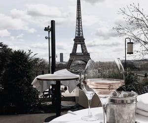 drinks, eiffeltower, and food image