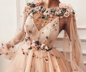 dress, fashion, and flowers image