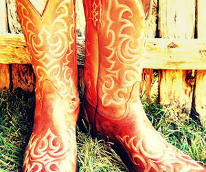 cowboy boots and vintage image