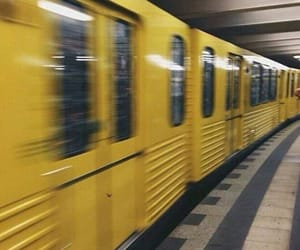 train, yellow, and aesthetic image