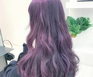 color hair, purple hair, and wavy image