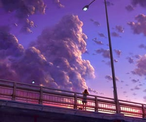 art, sky, and anime image