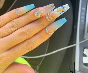 blue, blue nails, and nails image