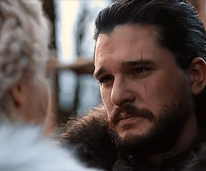 jon snow, gif, and game of thrones image
