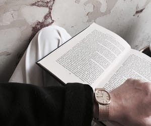 book, reading, and watch image