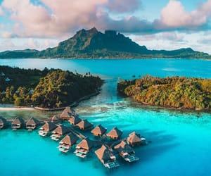 bora bora, ocean, and paradise image