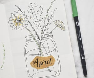 april, flowers, and art image