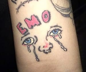 emo and tattoo image