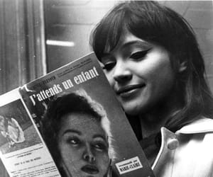 black and white, vintage, and anna karina image