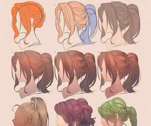art, hairstyle, and cuteee image