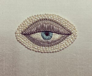 eye, eyes, and pearls image