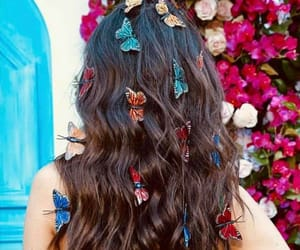 butterflies, hair, and victoria justice image