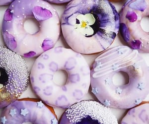 donuts, purple, and food image