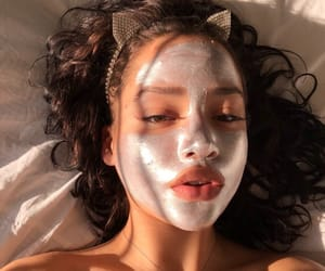 girl, hair, and face mask image