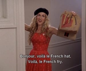 sex and the city, french, and Carrie Bradshaw image