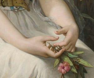 art, flower, and dress image