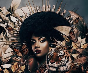 aesthetic, Afro, and beauty image
