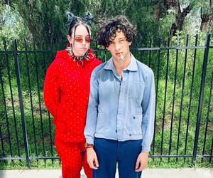 the 1975, matty healy, and billie eilish image