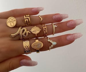 jewelry, nails, and rings image