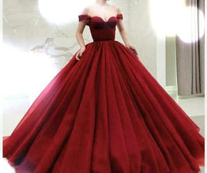 ball gown, prom dress, and simple dress image