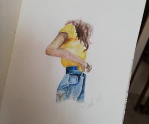 amarillo, fashion, and girl image