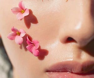 flowers, pink, and makeup image