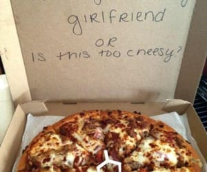 pizza, girlfriend, and cheesy image