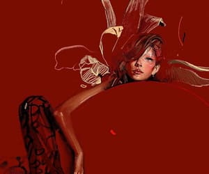 art, red, and burgundy image