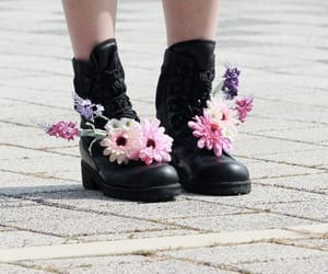 flowers, alternative, and boots image
