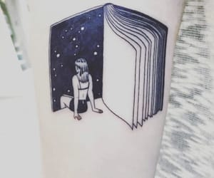 escape, book, and tattoo image