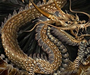 dragon, theme, and gold image