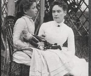 black and white, helen keller, and ann sullivan image