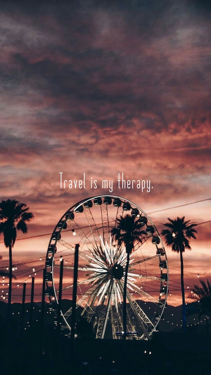 Travel Is My Therapy Phone Wallpaper On We Heart It